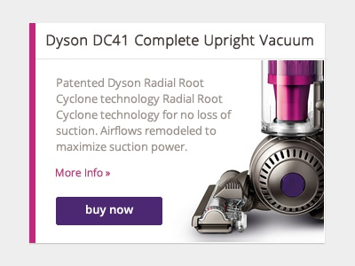 Product Card Callouts web web design callout dyson