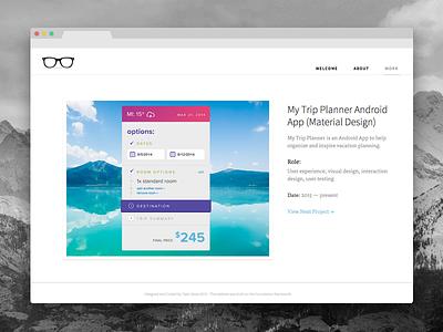 Portfolio 2015 ui user experience ux web design responsive portfolio