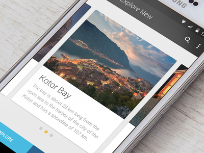 Android travel tiles