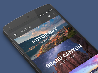Explore Cities Android Tiles ui ux travel tiles material design mobile android