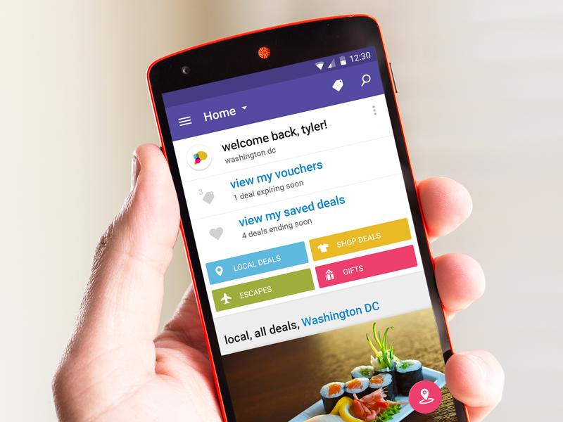 LivingSocial App Material Design android lollipop tiles mobile flat ux ui material design livingsocial