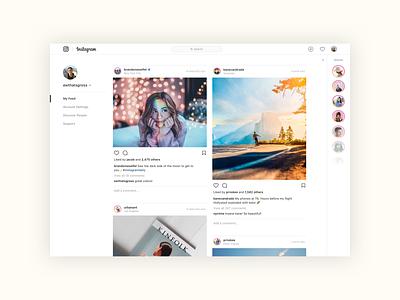 Instagram Web Concepts desktop design web design product design ux ui instagram design instagram