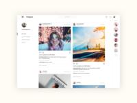 Instagram Web Concepts