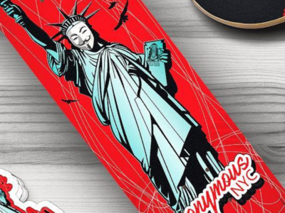 Anonymous NYC Skateboard Deck