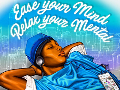 Ease your Mind, Relax Your Mental new york city city sleep illustration sleeping sleep best illustrations digital drawing digital art relaxation relax vector art illustration
