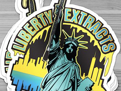 Liberty Extracts Logo Design