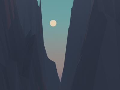 Empty Landscape 03 landscape moon sky sunset 3d concept art mountains