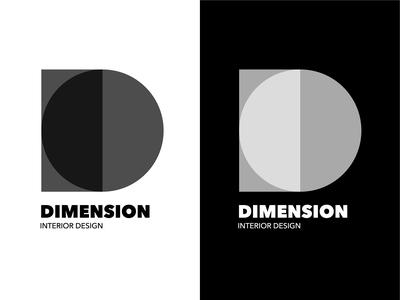Dimension Interior Design Logo #1