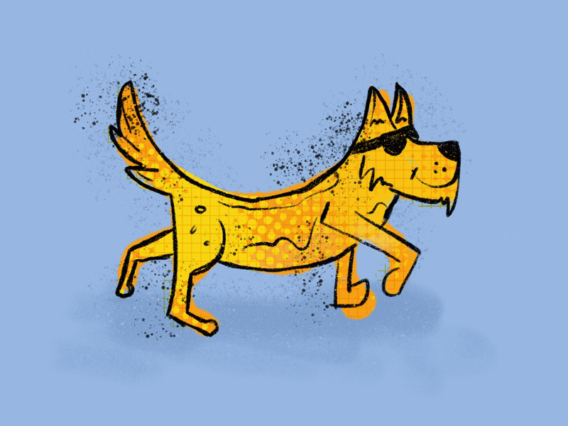 Chill pooch procreate illustration