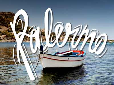 Palermo Lettering design italia sicilia sicily italy travel letter letters lettering graphic design