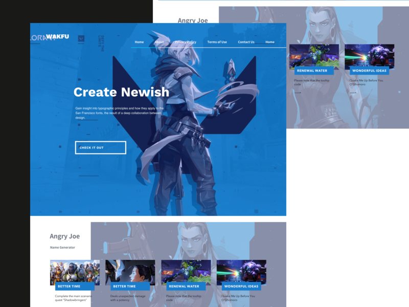 Sge Web Concept web design blue white design web ux ui