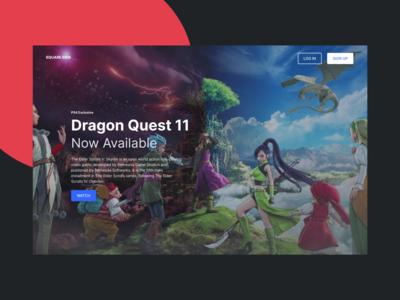 DW 004 dragon quest webdesign blue web design dashboard black white design web ux ui