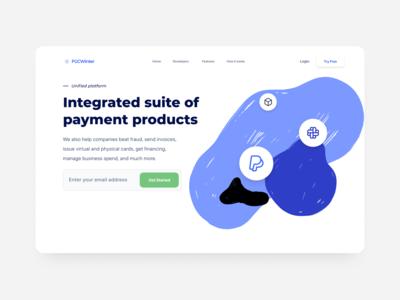 DW 016 - Suite of Products webdesign blue white design web ux ui