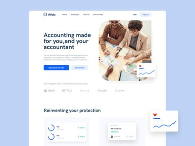 DW022 - accounting wc web design webdesign blue white design web ux ui