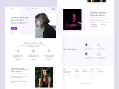 DW 26 -xana purple web design white design web ux ui