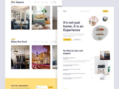 DW 27 - Thru webdesign homepage yellow white design web ux ui