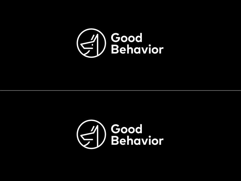 Good Behavior Logo Exploration white black dog identity brand icon brand design logo illustration