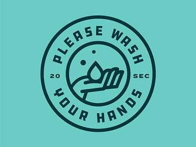 Wash Hands Vinyl Decal soap health wash typography sticker badge design illustration