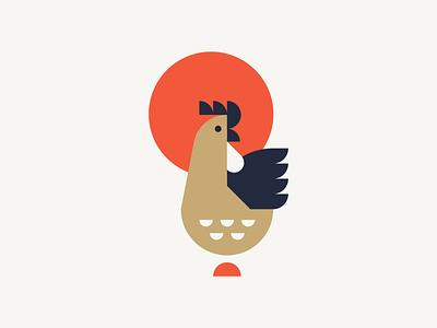 Chicken Animal Print animals illustrations silkscreen illustrator rooster chicken animal print design vector illustration