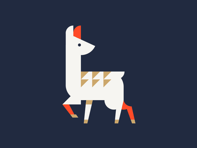 Baby Llama Animal Print silkscreen poster print design animal shapes illustrator illustration