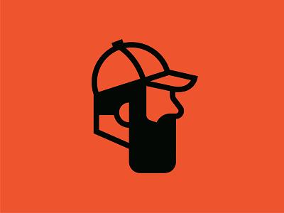 Hard Werk icons mark print identity tools mechanical orange line vector icon logo illustration