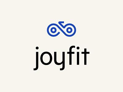Joyfit Logo bike mark icon vector illustration typography vector branding design identity card logo logo design blue print branding logos shape