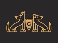 Dog Heraldry Emblem