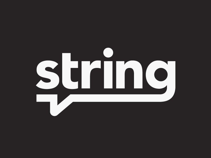 String Logotype app string logo type message chat bubble