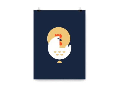 Farm Yard Animal Prints llama horse goat chicken animal vector illustration poster silkscreen print