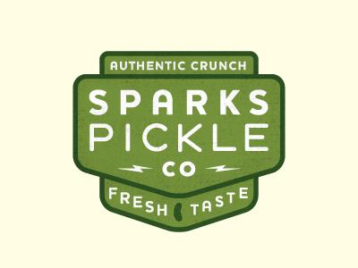 Sparks Pickle Branding logo illustration badge pickle sparks