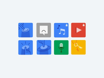 Google Home Iconography app illustration icons