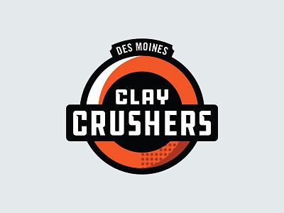 Clay Crusher shirt identity shot skeet illustration team sports logo