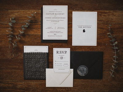 Laser Cut Wedding Invitation emboss foil cut laser invitation invite design print illustration