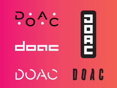 D.O.A.C. Logotype logo icon branding typography design lettering identity logotype
