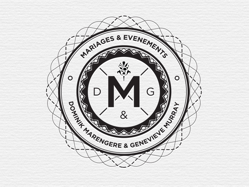 4th version black contrast gray m evenement mariage event vintage logo wedding