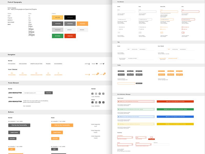 UI Stylesheet \u0026 Design Guide Measurement