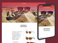 Sunglasses Landing Page