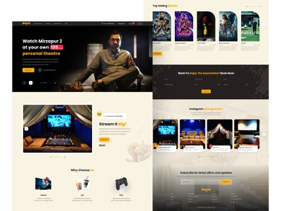 Personal movie theatre booking ui design uidesign celebration videostream stream bingewatch personal theatre theatre movie
