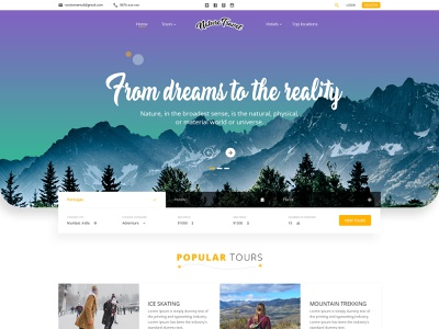 Travel and Tourism form ux ui template modern creative layout holiday design minimal color vacation travel agency typography logo gradient honeymoon tourist tourism travel