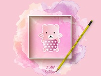 Pencil Teddy Illustration