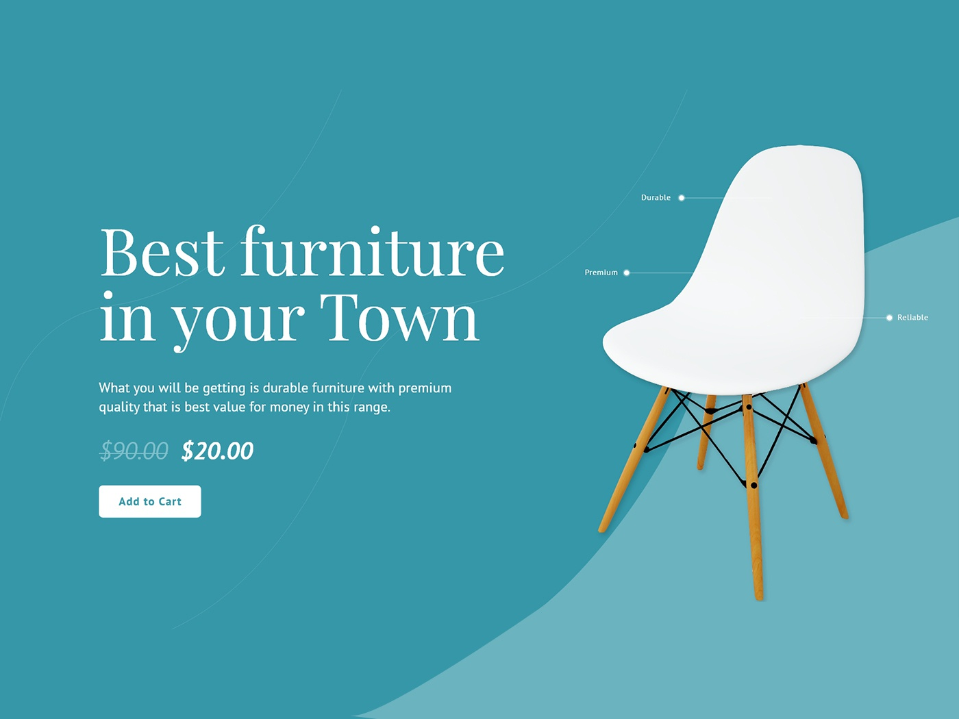 Furniture Ui Design ux concept clean button ui simple layout template minimal creative design user attention white space spacing typography chair ui design ecommerce product design furniture