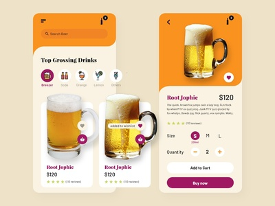 Beer mobile app UI Design