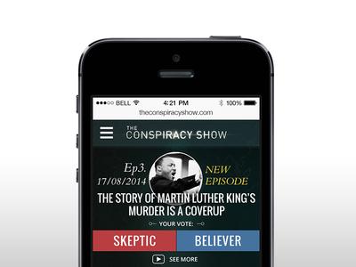 Conspiracy Show ios iphone cs ux ui
