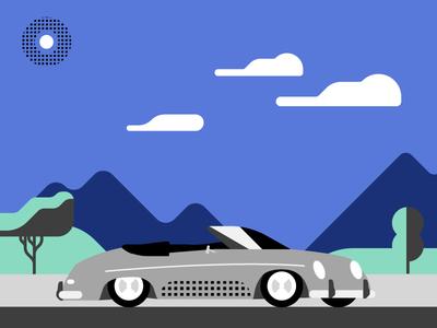 356 illustration brand uber porsche 356