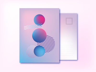 Abstract Postcard