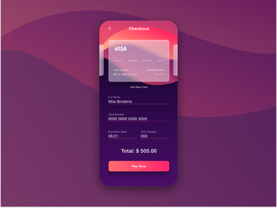 Credit card checkout form @ui @dailyui002 @daily-ui @002 @checkout @checkoutform @mobile @dailyui