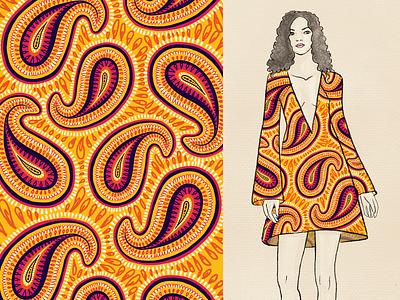 Bold Paisley - Print and Illustration