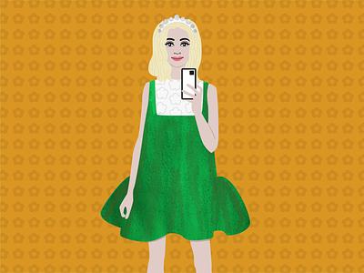 Instagram style influencer illustrations funky design illustration cute