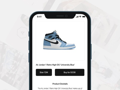 Product screen for a iOS shopping app product design los angeles designer mobile app ios app mobile ui design mobile design uxui uiux ux ui visula ux designer ui designer ui design taking on projects open to work for hire los angeles ux designer ux research ux designer ux design