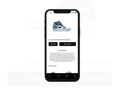 Product screen for a mobile shopping app open to work designer uxui uiux freelance uxui designer for hire la designer loa angeles product designer product design product designer ux research ux designer ux design ux ui designer ui design ui